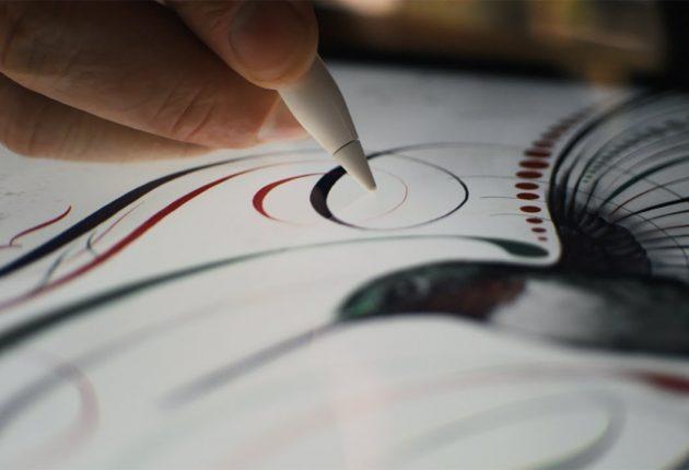 Apple Pencil non è molto buona per scrivere: le lettere vanno realizzate lentamente e con buona calligrafia, quindi non crediate che possa sostituire carta e penna. Eccellente invece per il disegno