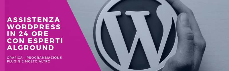 assistenza wordpress in 24 ore con esperti alground