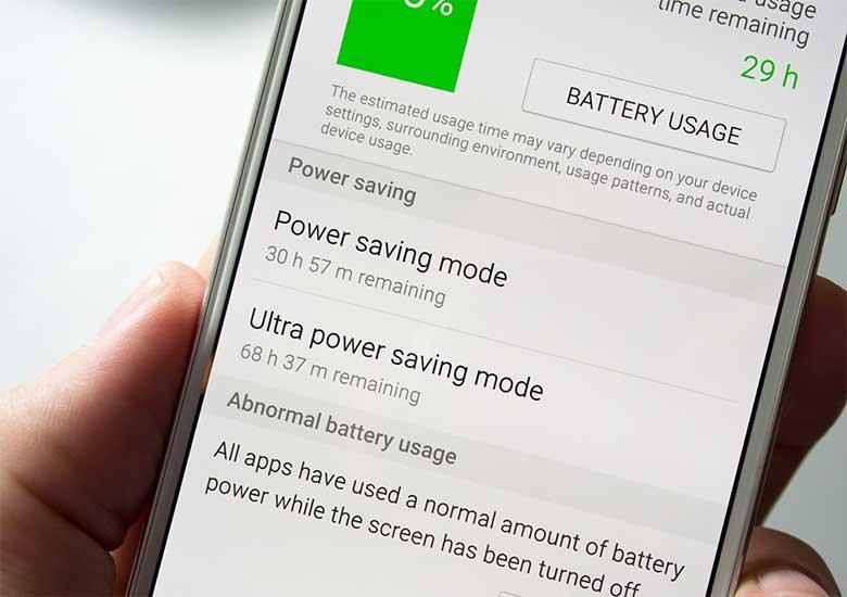 La modalità risparmio abbassa l'udo della batteria