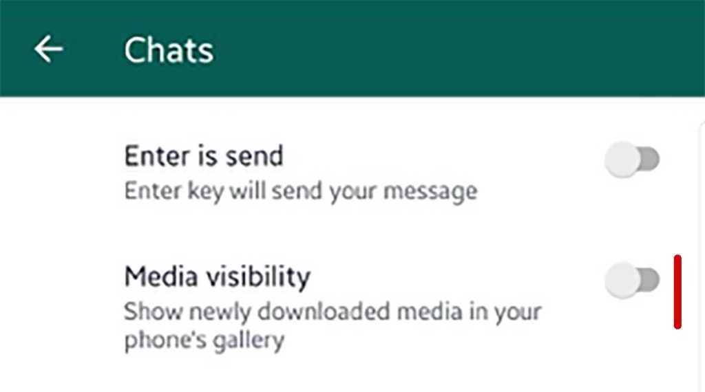 Modificare visibilità media in Whatsapp