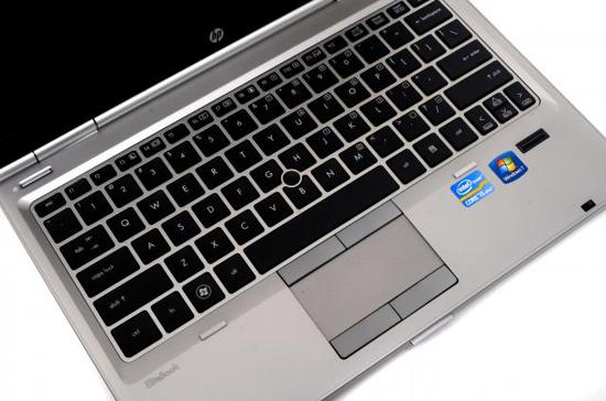 La tastiera a tasti distanziati e confortevoli dell'HP EliteBook