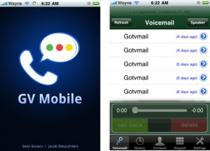 L'app Google Voice in azione su Iphone