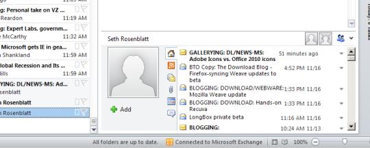 Outlook 2010 gestisce i contatti e riunisce tutte le comunicazioni in una unica interfaccia